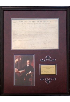 1827 John Quincy Adams Autographed Land Grants (2)(JSA)