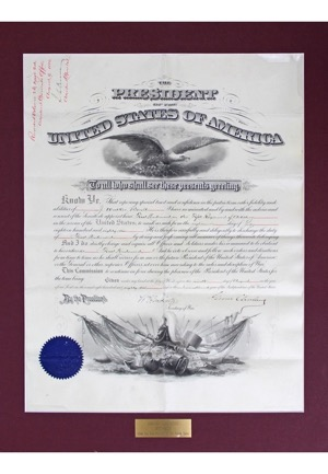 Circa 1885 Grover Cleveland Autographed Presidential & New York Documents (2)(JSA • PSA/DNA)