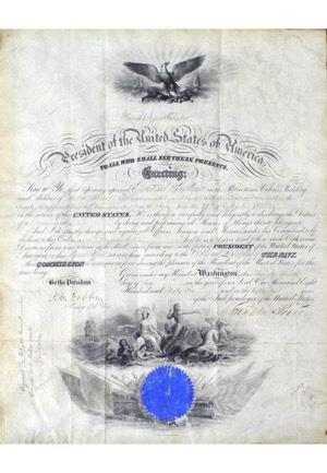 1855 Franklin Pierce Autographed Presidential Documents (3)(JSA • PSA/DNA)