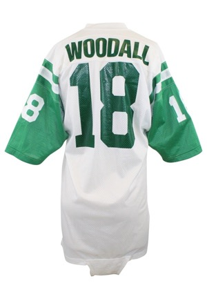 1970s Al Woodall New York Jets Game-Used Road Jersey
