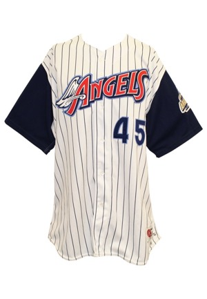 1998 Cecil Fielder Anaheim Angels Game-Used Home Jersey (Final Season)