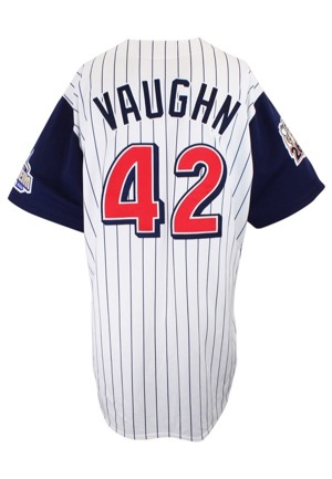 1999 Mo Vaughn Anaheim Angels Game-Used Home Jersey (Photo-Matched)