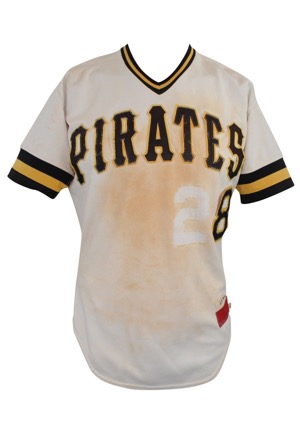 1985 Sixto Lezcano Pittsburgh Pirates Game-Used Home Jersey