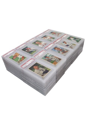 1952 Bowman Baseball Near-Complete Set (181)(Vast Majority PSA Graded NM 7)