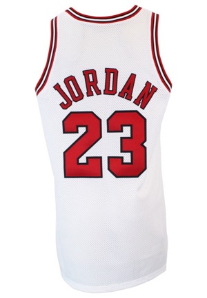 1997-98 Michael Jordan Chicago Bulls Game-Used Home Jersey (Championship Season • MVP Season)