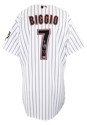 2005 Craig Biggio Houston Astros Game-Used & Autographed Home Jersey (JSA)