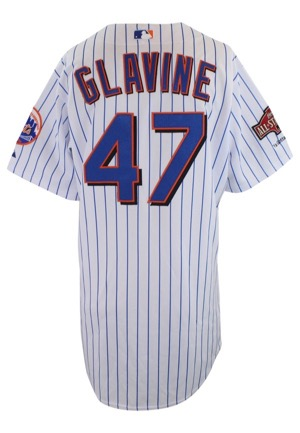 2004 Tom Glavine New York Mets Game-Used Home Jersey (Patched & Prepped For All-Star Game)