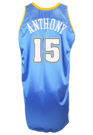 2003-04 Carmelo Anthony Denver Nuggets Game-Used Rookie Road Jersey