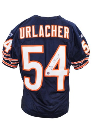 2006 Brian Urlacher Chicago Bears Game-Used & Autographed Home Jersey (JSA • Urlacher LOA)