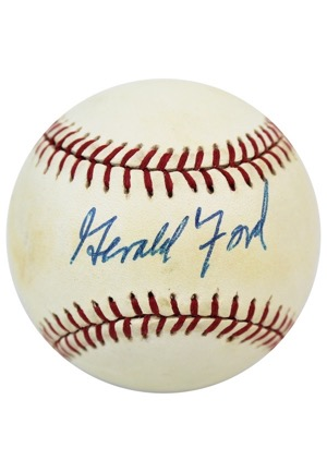 Gerald Ford Single-Signed OAL Baseball (JSA • PSA/DNA)