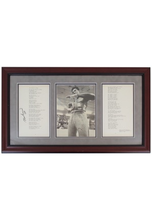 "Muhammad Ali Single-Signed Framed ""The Peoples Champ"" Poem Display (Full JSA)"