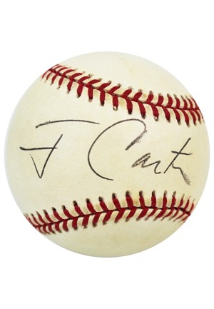Jimmy Carter Single-Signed OAL Baseball (JSA • PSA/DNA)