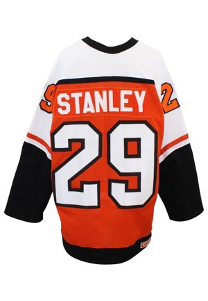 1986-1987 Daryl Stanley Philadelphia Flyers Game-Used Road Jersey