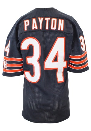 Mid 1980s Walter Payton Chicago Bears Game-Used & Autographed Home Jersey (JSA • Repairs)
