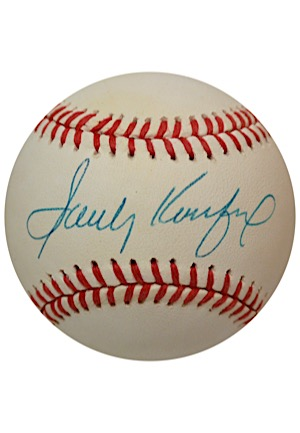 Sandy Koufax Single-Signed ONL Baseball (JSA)