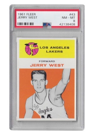 1961 Fleer Jerry West #43 (PSA Graded NM-MT 8)