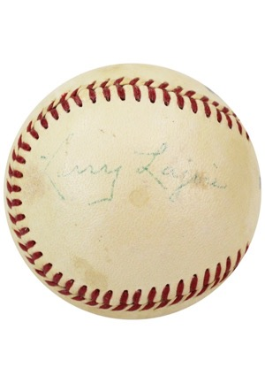 Cy Young & Nap Lajoie Dual-Signed Reach Baseball (Full JSA • Exceedingly Rare Combo)