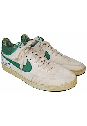 1980s Tom Chambers Seattle SuperSonics Game-Used & Dual-Autographed Sneakers (JSA)