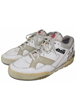 Fat Leever Game-Used & Dual-Autographed Sneakers (JSA)