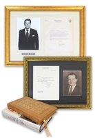 United States Presidential Autobiographies, Books, & Typed Letters Autographed By Carter, Ford, Reagan & Nixon (4)(JSA)