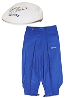 Payne Stewart Tournament-Worn Iconic Golf Knickers & Autographed Cap (2)(JSA)