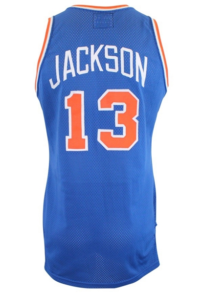 1987-88 Mark Jackson New York Knicks Game-Used Road Jersey (Photo-Matched & Graded 10 • RoY Season)