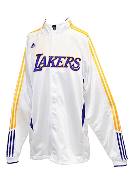Circa 2010 Los Angeles Lakers Warm-Up Jacket Attributed To Kobe Bryant