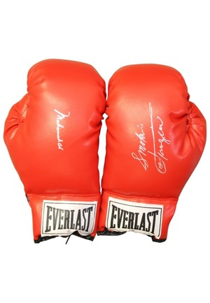 Muhammad Ali and Joe Frazier Individually Signed Boxing Gloves (2)(JSA)