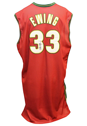 2000-01 Patrick Ewing Seattle SuperSonics Game-Used & Autographed Alternate Jersey (JSA)
