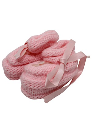 John F. Kennedy Jr. Baby Booties (Kennedy Secretary LOA • Lelands Documentation)