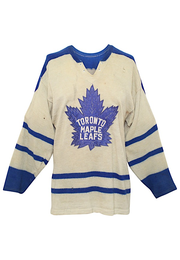 buy popular 62d0f ff492 Lot Detail - 1962-63 Carl Brewer Toronto Maple Leafs Game ...
