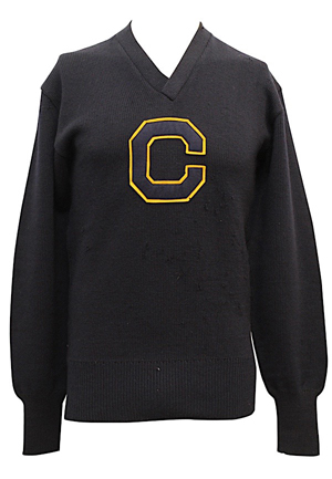 1946-49 Chuck Clustka UCLA Bruins Basketball Letterman Sweater (Family Provenance With Personalized Photos from John Wooden)