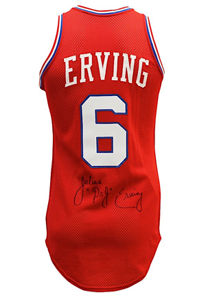 Early 1980s Julius Erving Philadelphia 76ers Game-Used & Autographed Jersey (JSA • Clubhouse Auto)