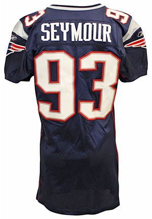 2006 Richard Seymour New England Patriots Game-Used Blue Jersey