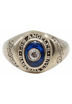 1960s Los Angeles Dodgers World Series Championship Ladys Ring