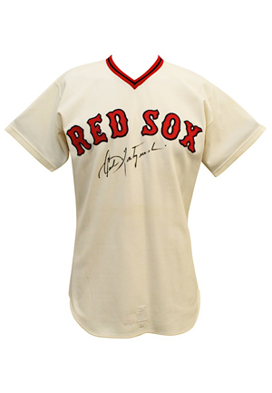 1974 Carl Yastrzemski Boston Red Sox Game-Used & Autographed Home Jersey (JSA • Outstanding Example With Fantastic Wear • Graded A10)