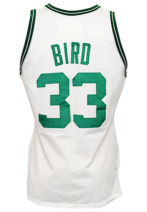 1986-87 Larry Bird Boston Celtics Game-Used Home Jersey (Progressively-Matched To Multiple Games Including ECF Triple-Double • Graded A10)
