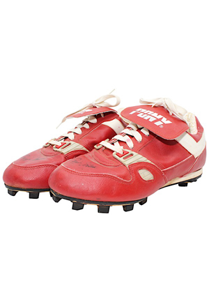 Ozzie Smith St. Louis Cardinals Game-Used & Dual-Autographed Cleats (JSA)
