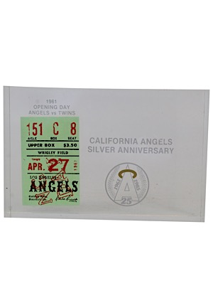4/27/1961 Los Angeles Angels Ticket Stub