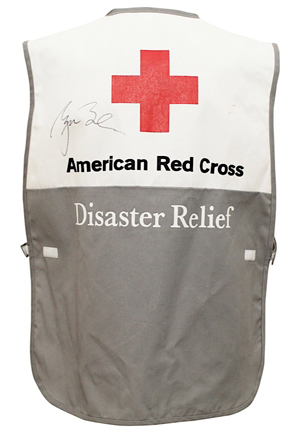 George W. Bush Autographed American Red Cross Disaster Relief Vest (JSA • Directly Given To Red Cross Employee Working Arizona Fires)