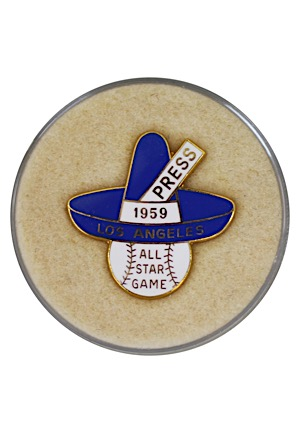 1959 Los Angeles Dodgers All-Star Game Press Pin