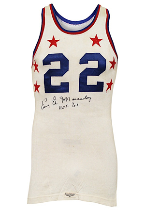 "1953 ""Easy"" Ed Macauley Game-Used & Autographed NBA All-Star Jersey (Macauley Family LOA • Graded 10 • Full JSA LOA • Worn As A Celtic)"