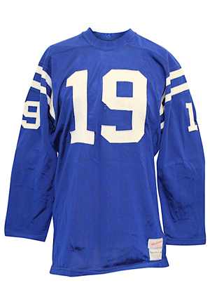 "1969 Johnny Unitas Baltimore Colts Game-Used Durene Jersey (Graded 8+ & RGU Photo-Match • Also Worn By Morral • Originally On Display At Unitas ""The Golden Arm"" Restaurant)"