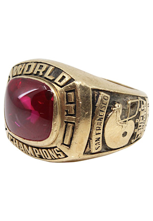 1990 San Francisco 49ers World Championship Staff Ring
