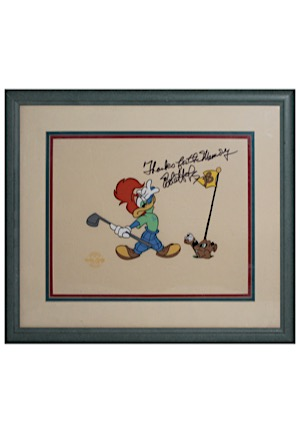 Bob Hope Autographed & Inscribed Framed Display Piece (JSA)