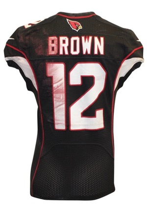 2015 John Brown Arizona Cardinals Game-Used Black Alternate Jersey (PSA/DNA • Unwashed)