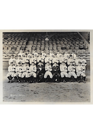 1920 Cleveland Indians American Base Ball Club World Champions Lewis Van Oeyen B&W Photo
