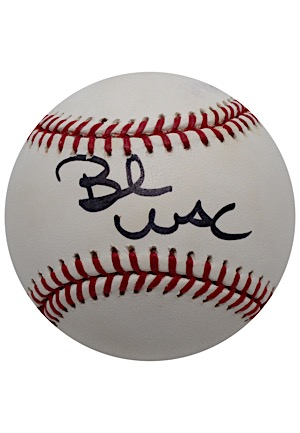 Bernie Mac Single-Signed OML Baseball (JSA • PSA/DNA)