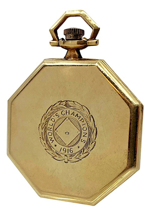 1916 Boston Red Sox Championship Pocket Watch Gifted From Babe Ruth To His Attorney (Hobby Fresh • Outstanding Provenance With Family LOA)