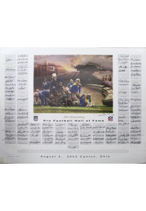 NFL Hall Of Famers Multi-Signed 40th Anniversary LE Print (JSA • PSA/DNA • 55/120)